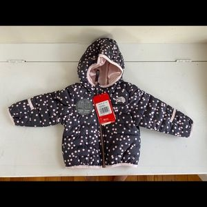 The North Face girls reversible jacket 12 mos